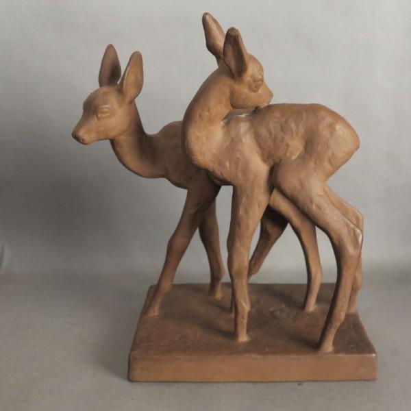 Deer group made of ceramic...