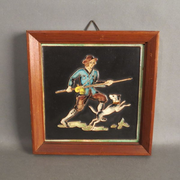 Vintage wall tile of the...