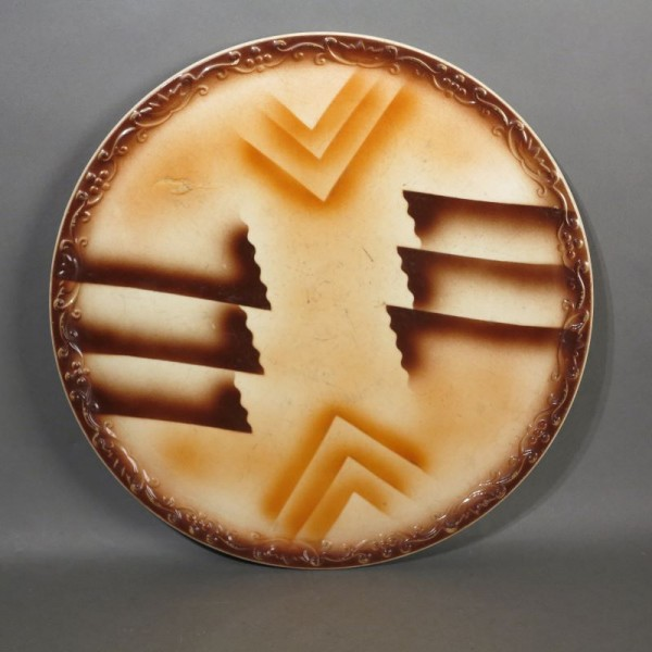 Ceramic cake platter. Art...