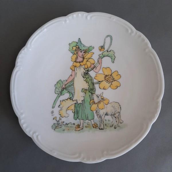 Art Nouveau porcelain plate...