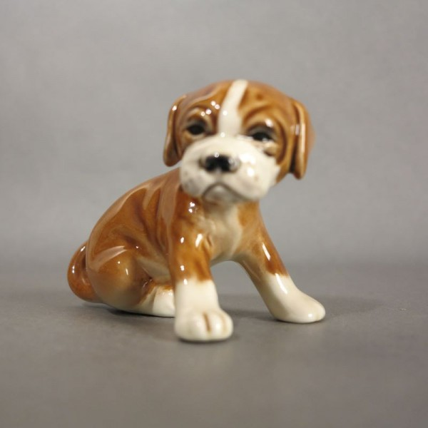 Porcelain figure puppy by...