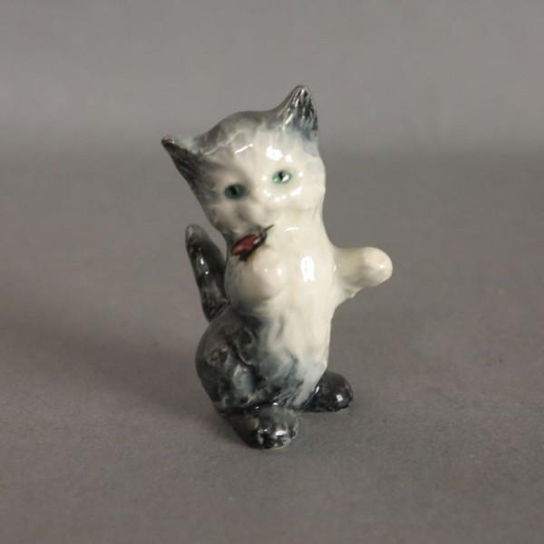 Figura de porcelana gato de...