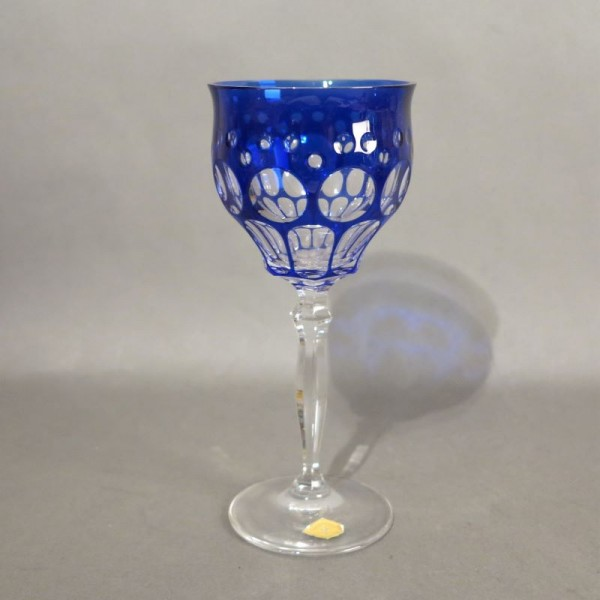 Blue wine glass from...