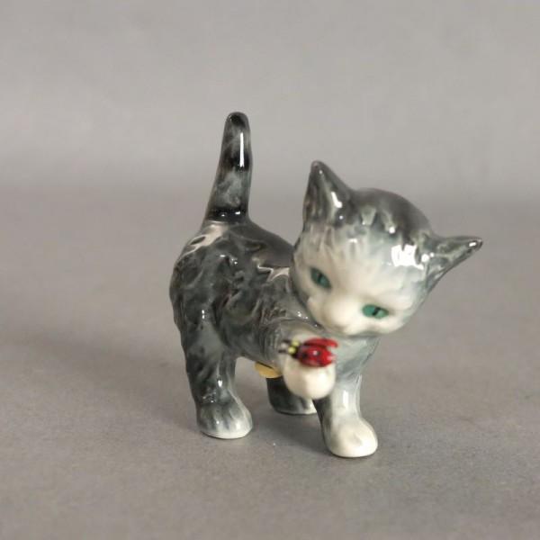 Porcelain figure cat by...