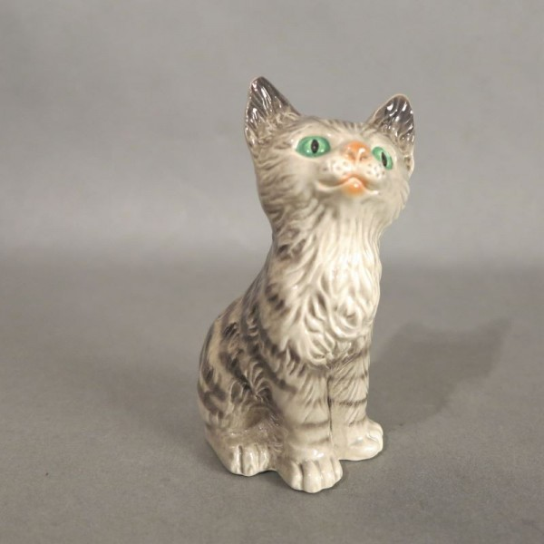 Porcelain figure cat by...