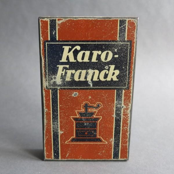 Reklame Blechdose von Karo...