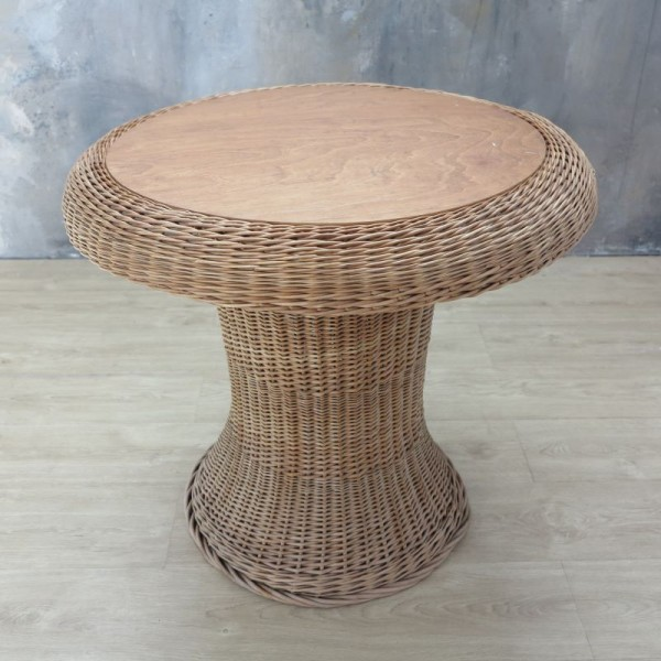 Vintage rattan table with...