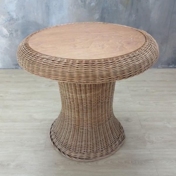 Vintage Rattan Tisch mit...