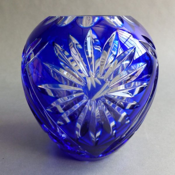 Blue lead crystal vase by...
