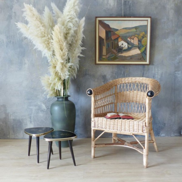 Vintage ratan armchair....