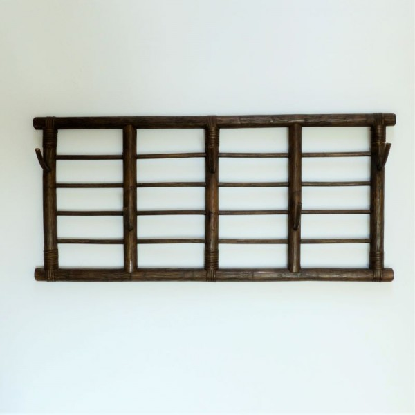 Vintage bamboo coat rack....