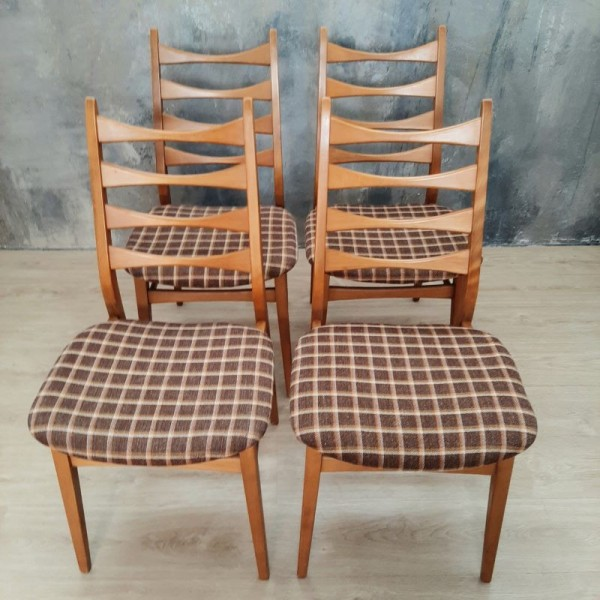 Four vintage chairs in...
