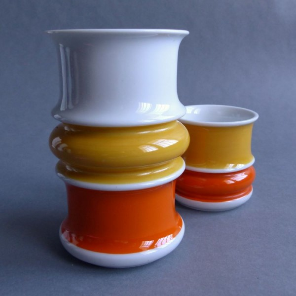 Porcelain pair of vases by...