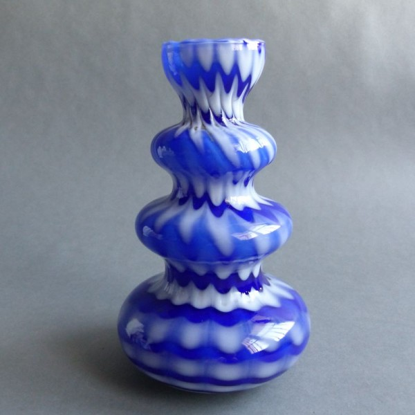 Murano glass vase blue...