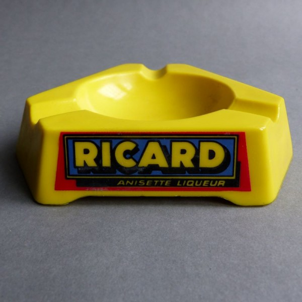 Glass ashtray from Ricard....