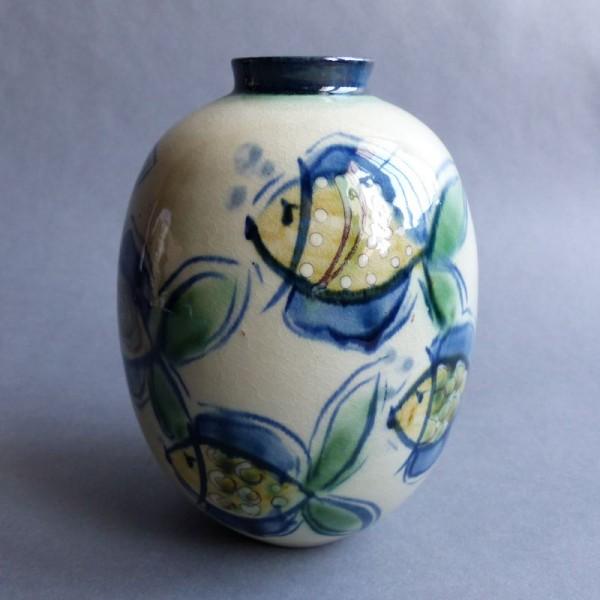 Hand-painted ceramic vase...
