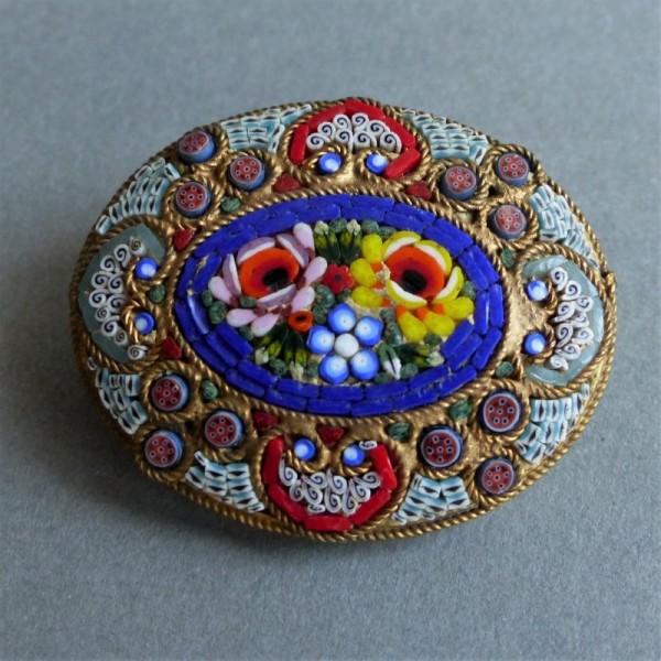 Millefiori brooch from...