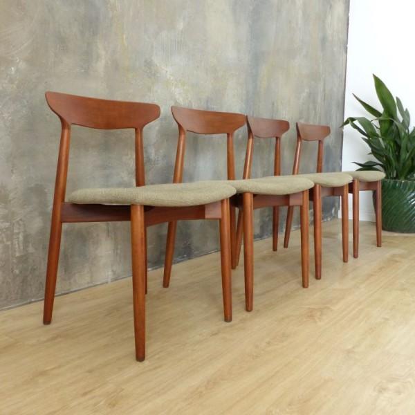 Cuatro sillas de teca de...