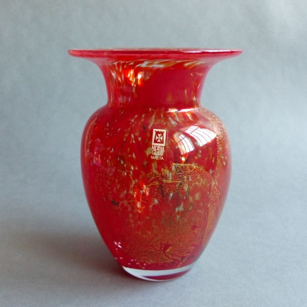 Hand made glass vase from...
