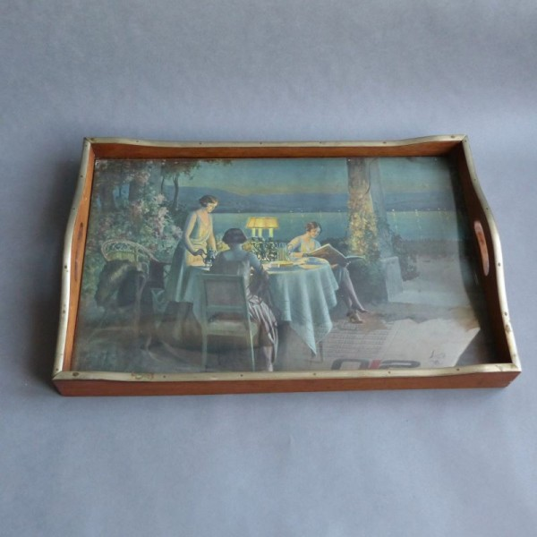 Art Nouveau serving tray...