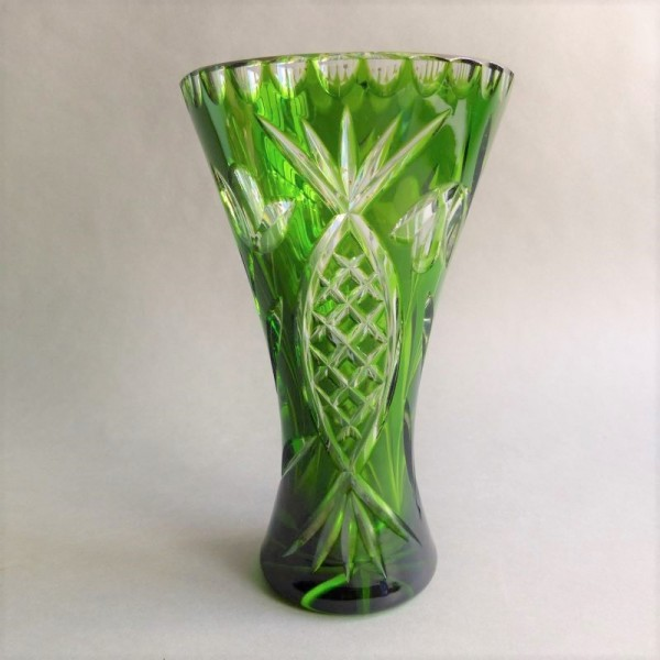Polished crystal vase....