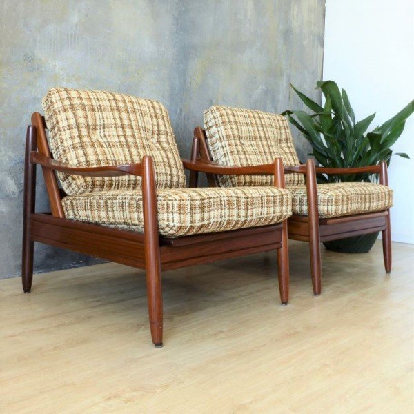 Two Scandinavian armchairs...