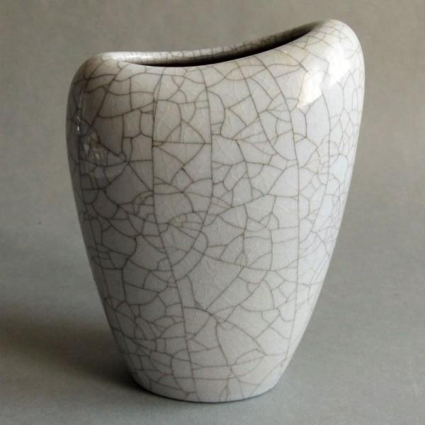 Craquele ceramic vase of...