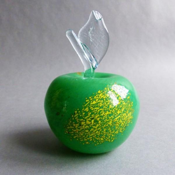 Green Murano glass apple....