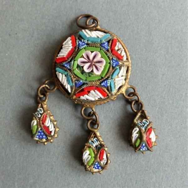 Millefiori jewelry pendant....