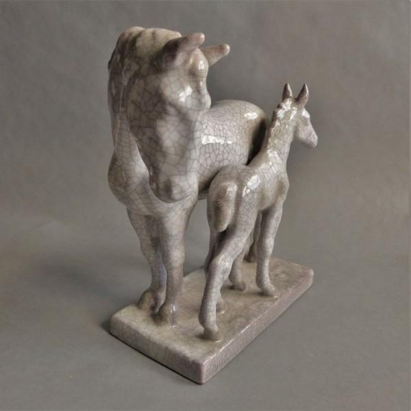 Pferdegruppe aus Keramik...