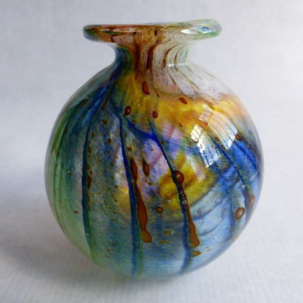 Hand blown glass vase by...