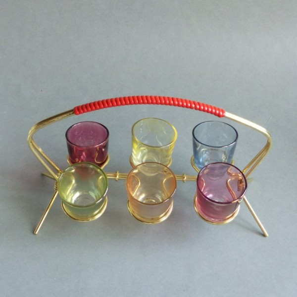Colorful vintage glasses in...