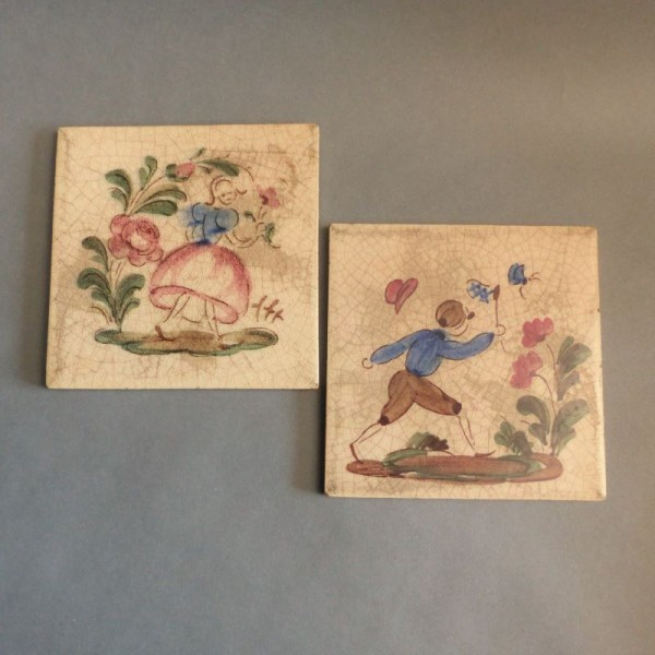Hand-painted tiles from...
