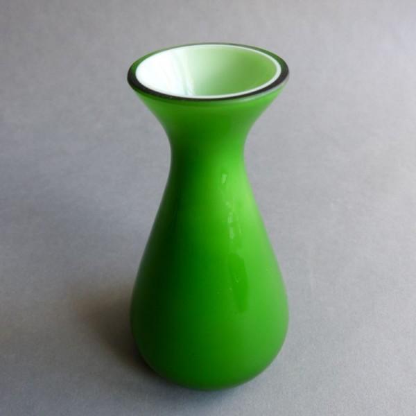 Green Murano glass vase....