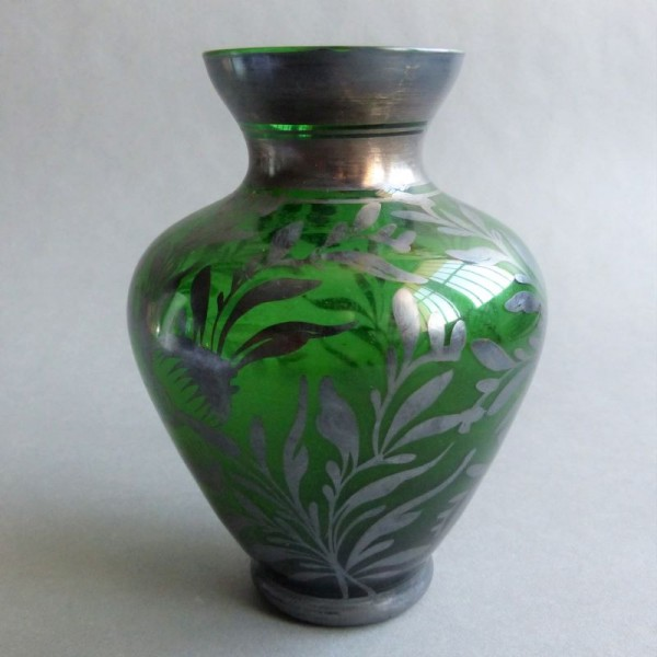 Art Nouveau glass vase with...