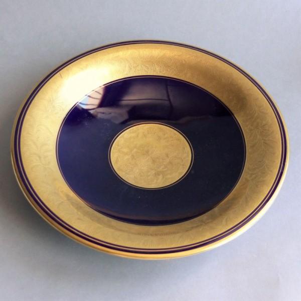 Cobalt blue porcelain plate...