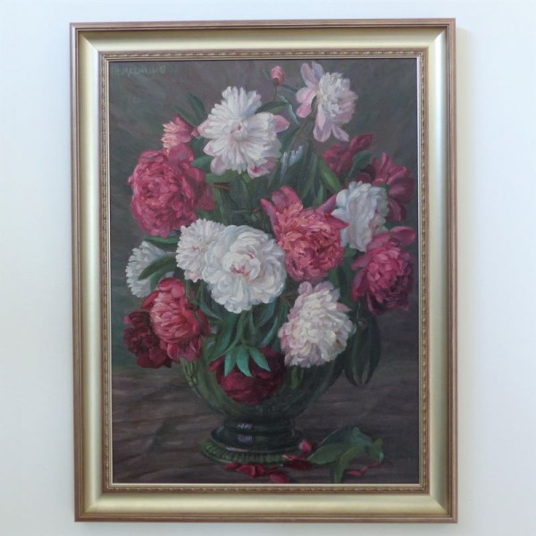 Vintage oil painting by Fr....