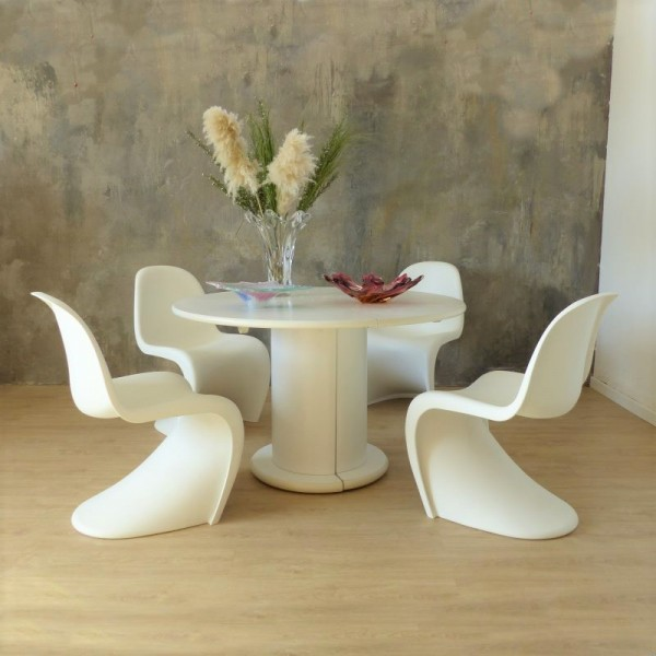 Four chairs by Verner...