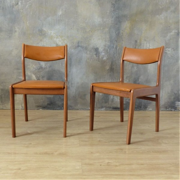 Two vintage chairs at...