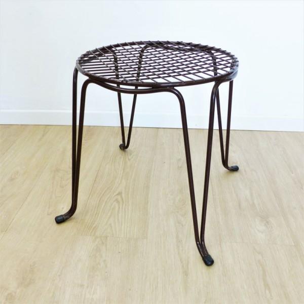 Vintage wire mesh stool....
