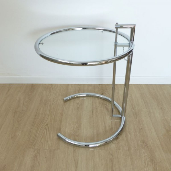 Adjustable glass table by...