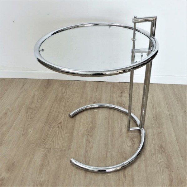Adjustable glass side table...