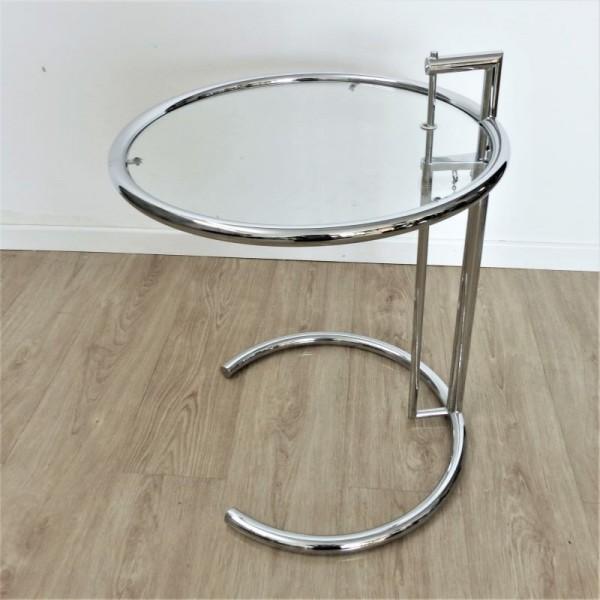 Adjustable glass side table...