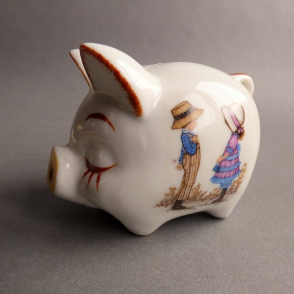 Porcelain piggy bank box...