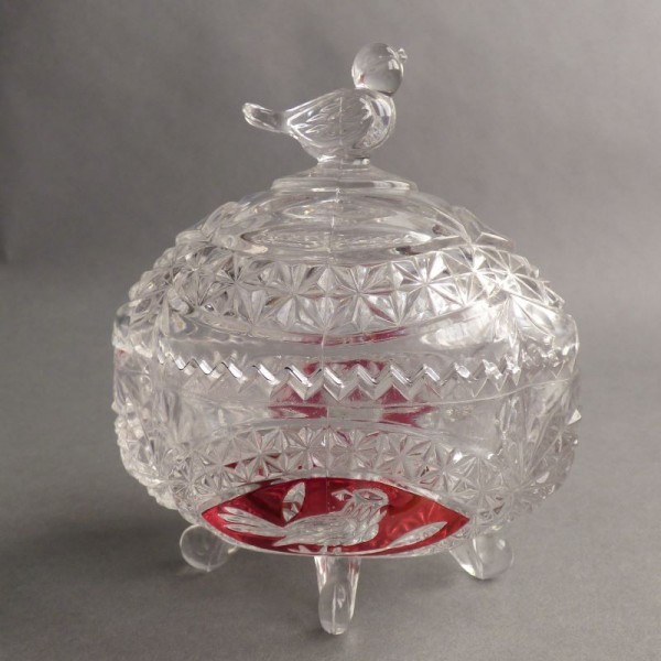 Vintage pressed glass candy...