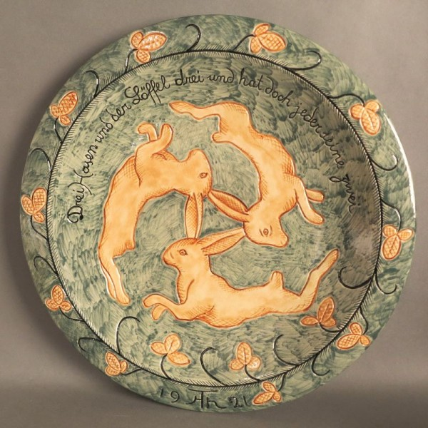 Ceramic plate from the...