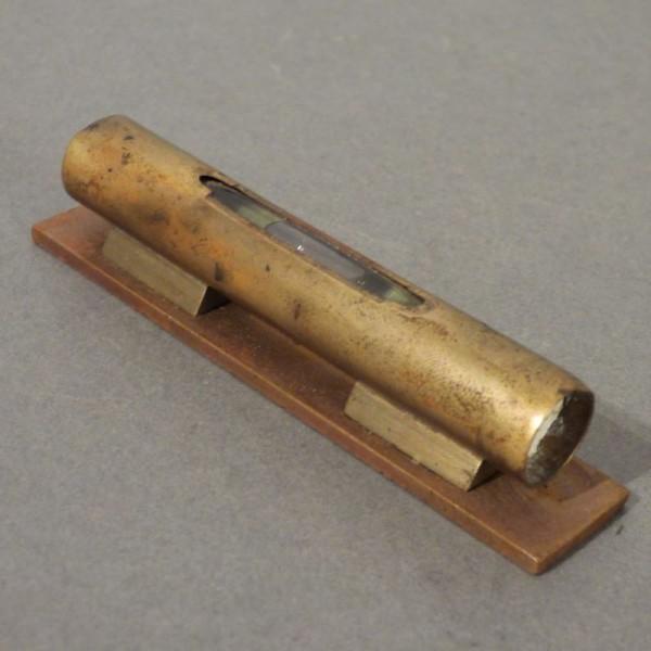 Antique brass spirit level.