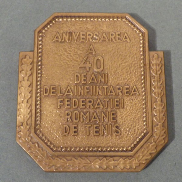 Tennis Medaille Rumänien....