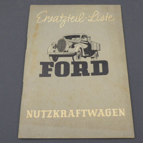 Spare parts list Ford...