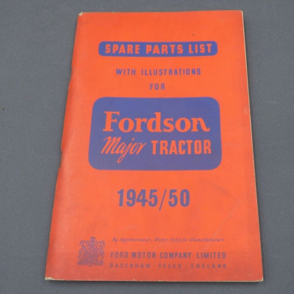 Spare parts list. Fordson...